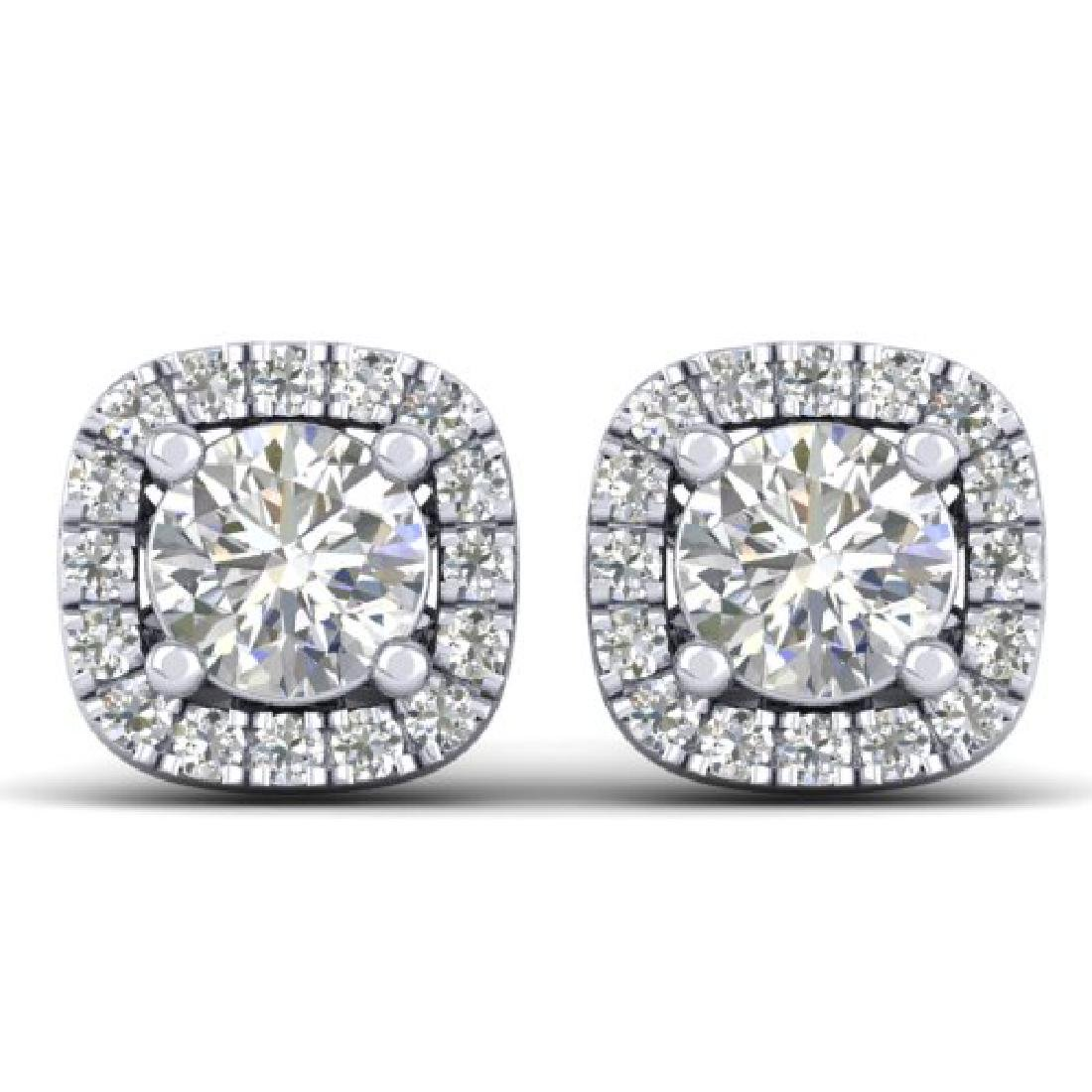 1.08 CTW Certified VS/SI Diamond Solitaire Stud Halo
