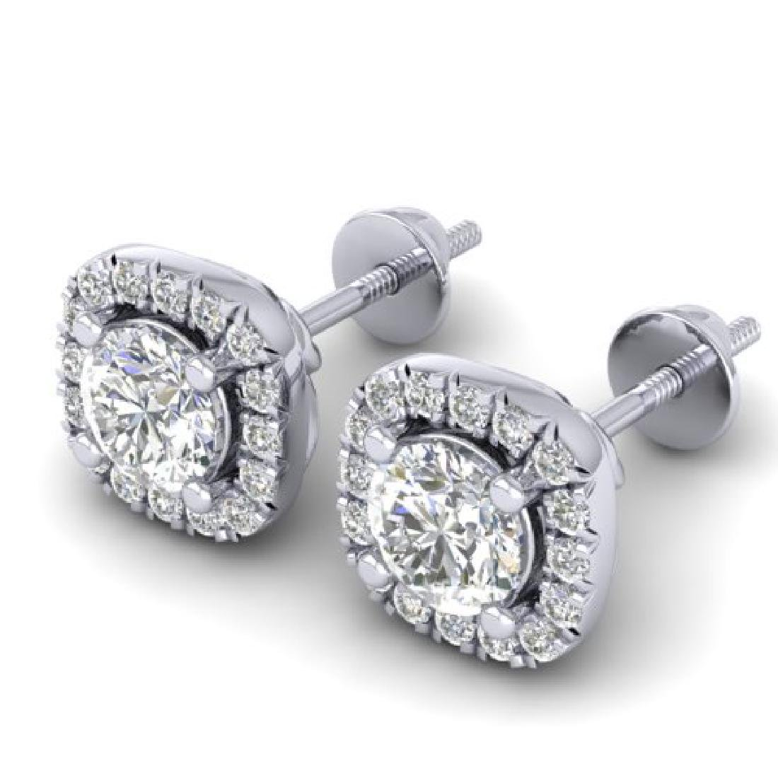1.08 CTW Certified VS/SI Diamond Solitaire Stud Halo - 2