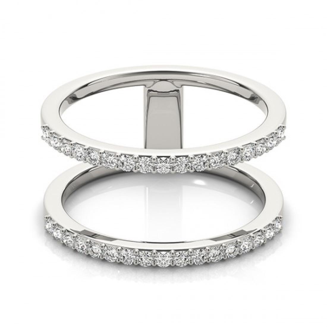 0.90 CTW Certified VS/SI Diamond Fashion Ring 14K White