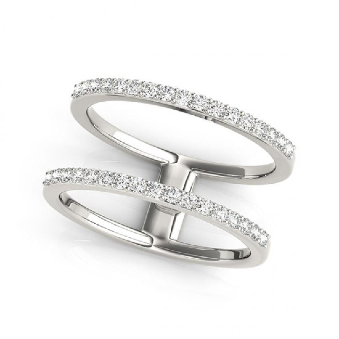 0.90 CTW Certified VS/SI Diamond Fashion Ring 14K White - 2