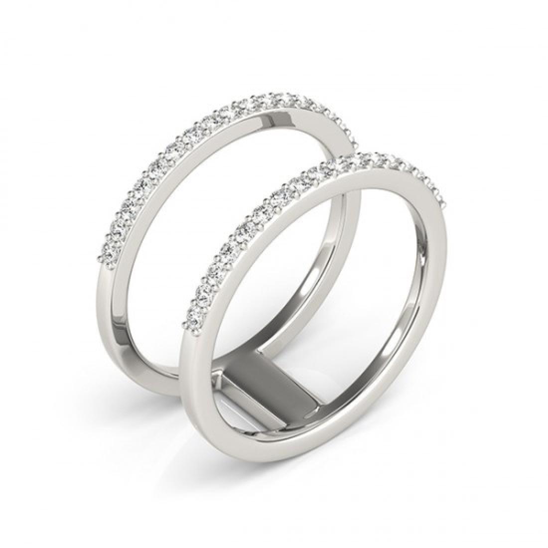 0.90 CTW Certified VS/SI Diamond Fashion Ring 14K White - 3
