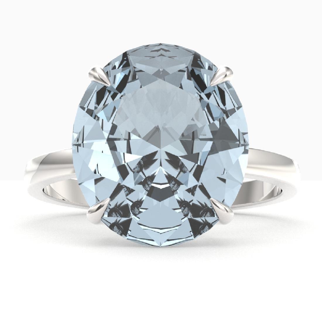 9 CTW Sky Blue Topaz Designer Solitaire Engagement Ring