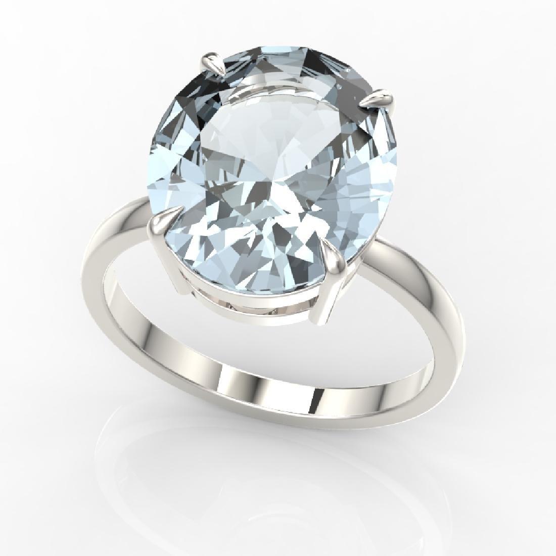 9 CTW Sky Blue Topaz Designer Solitaire Engagement Ring - 2