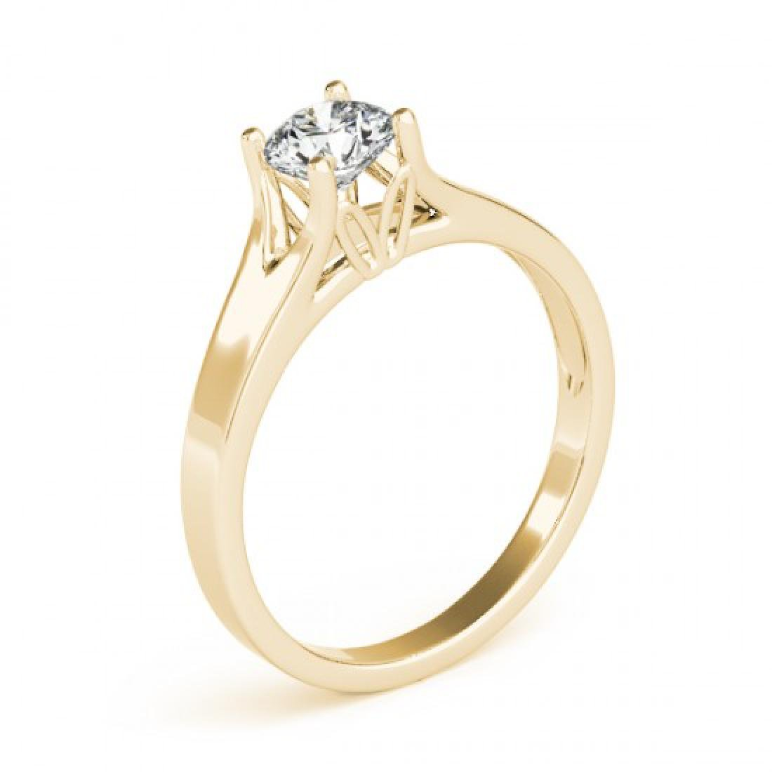 1 CTW Certified VS/SI Diamond Solitaire Ring 14K Yellow - 3