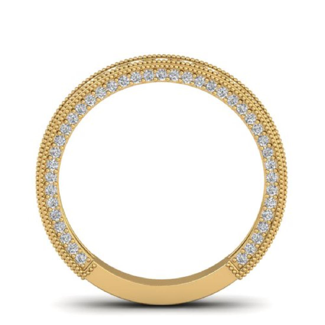 1.25 CTW VS/SI Diamond Art Deco Eternity Band Ring 18K - 3