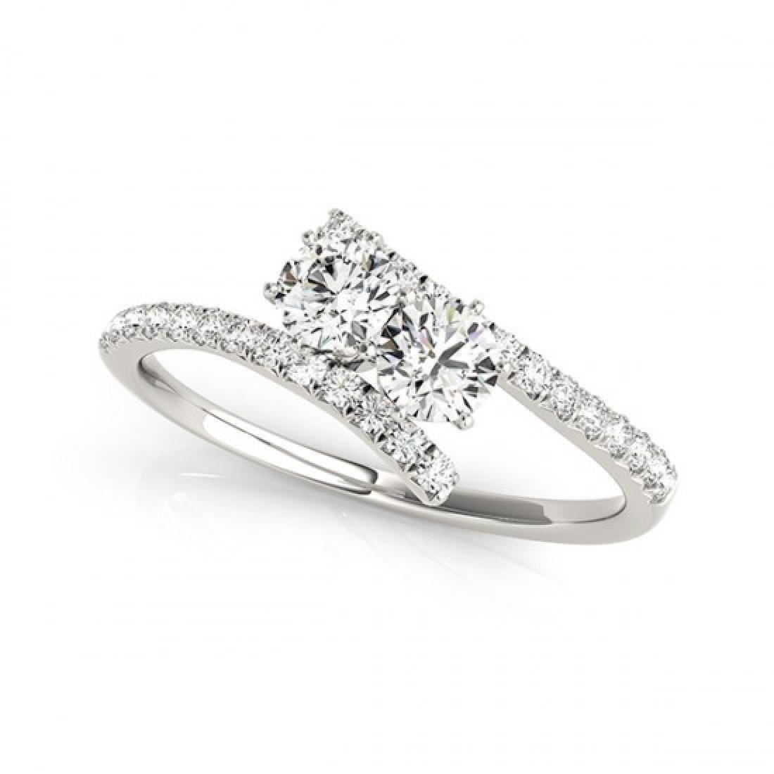 1 CTW Certified VS/SI Diamond 2 Stone 2 Stone Ring 14K - 2