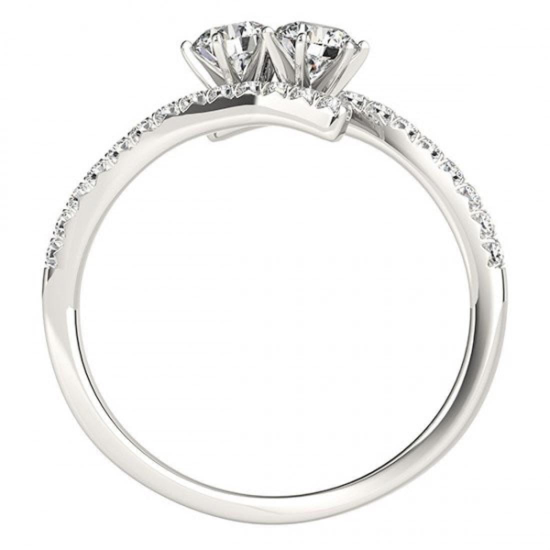 1 CTW Certified VS/SI Diamond 2 Stone 2 Stone Ring 14K - 3