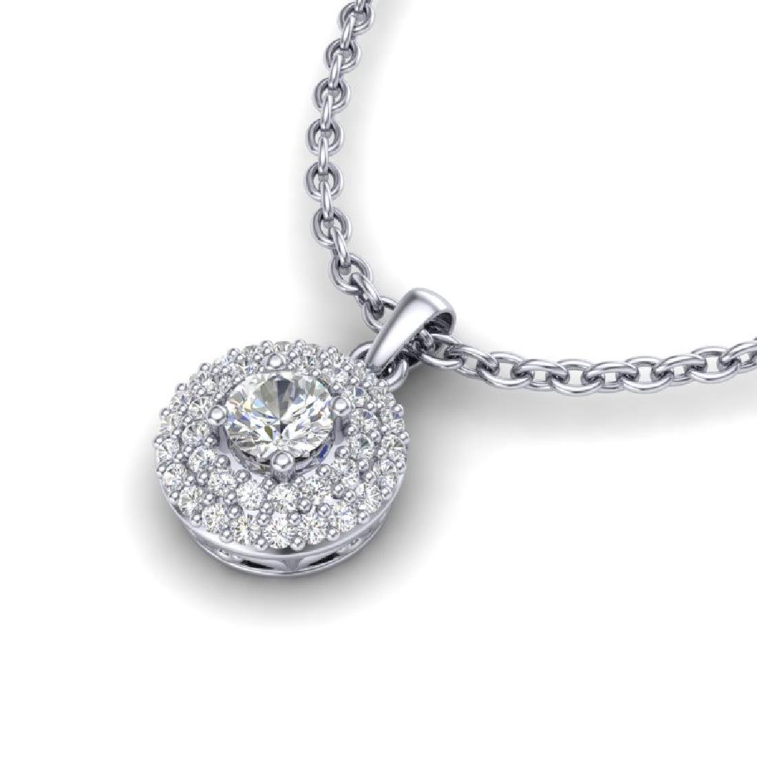 0.60 CTW Micro Pave VS/SI Diamond Designer Necklace 18K - 2