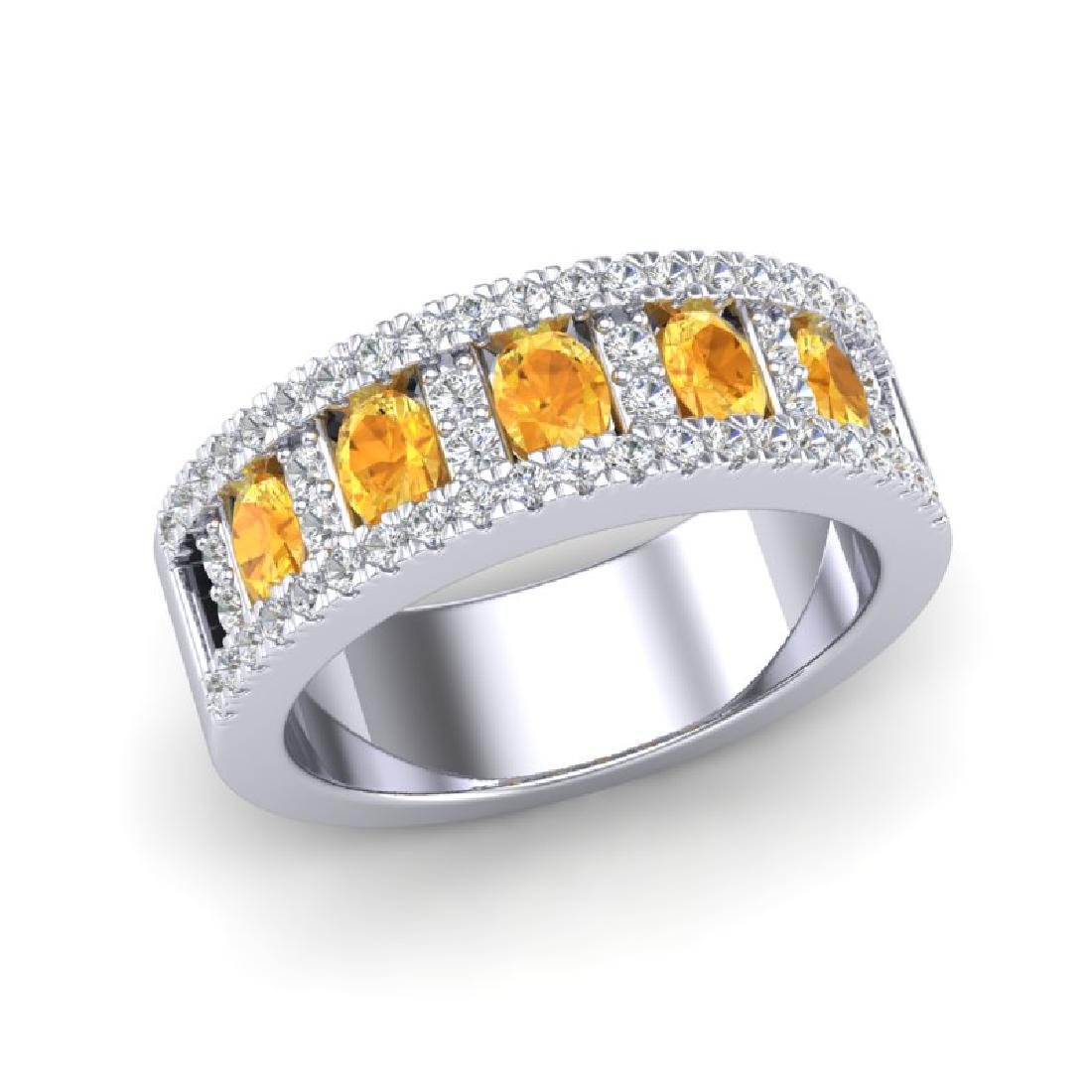 2 CTW Citrine & Micro VS/SI Diamond Inspired B& Ring - 2