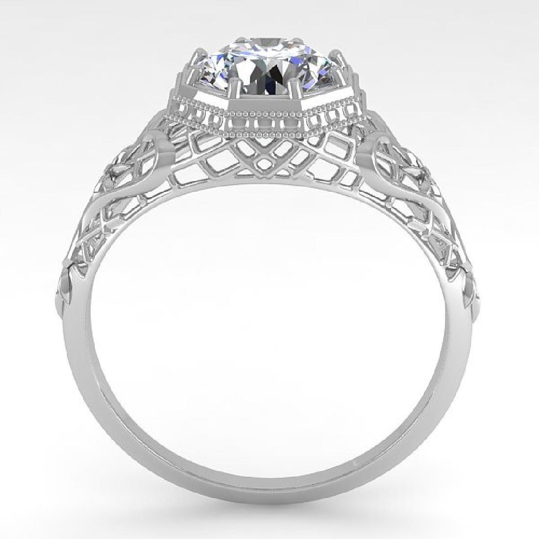1.50 CTW VS/SI Diamond Solitaire Ring 14K White Gold - 3