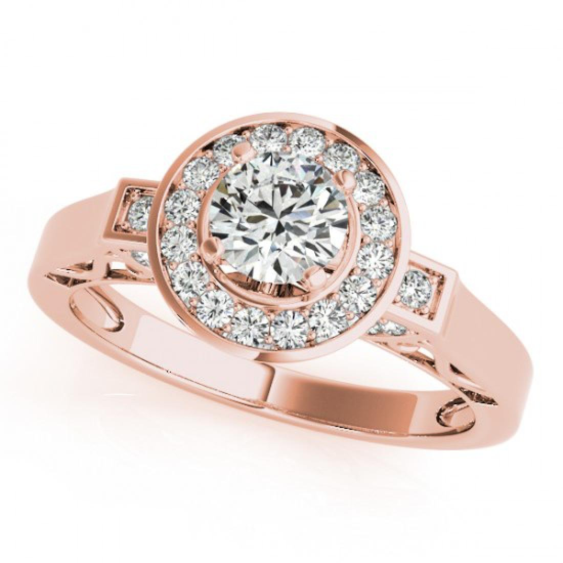 1.75 CTW Certified VS/SI Diamond Solitaire Halo Ring - 2