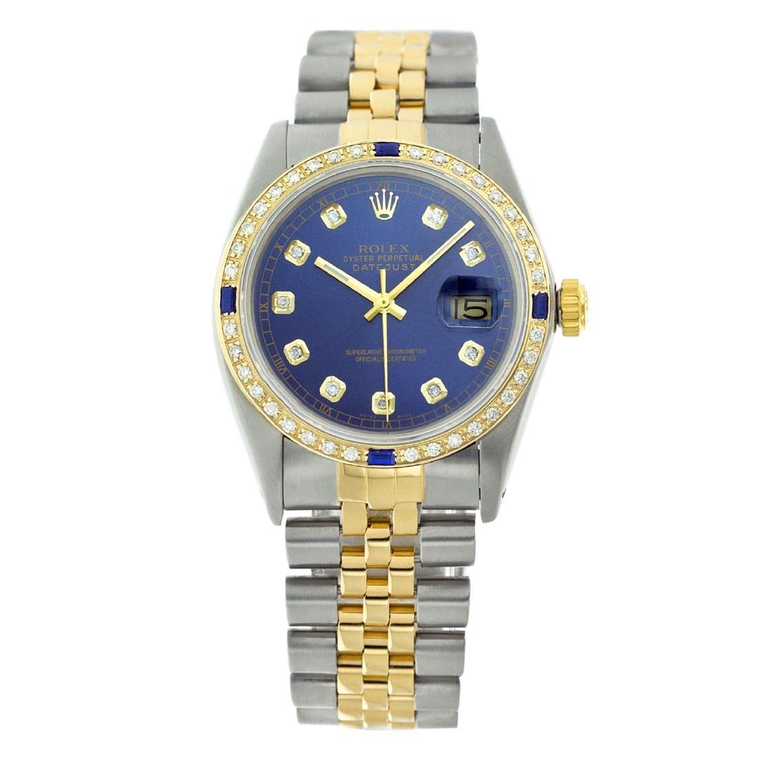 Rolex Ladies Two Tone, Diam Dial & Diam/Sapphire Bezel, - 2