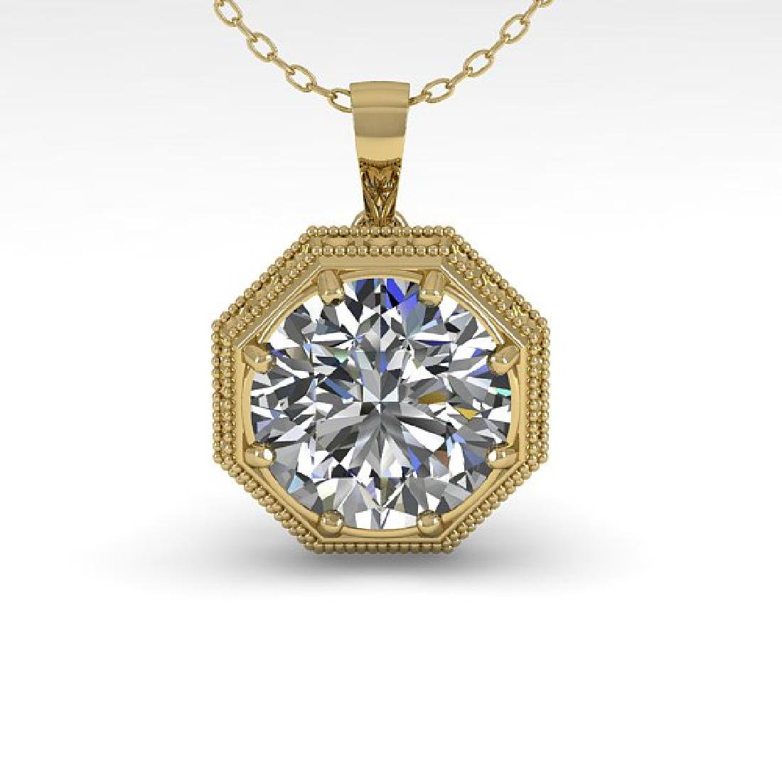 0.50 CTW VS/SI Diamond Solitaire Necklace 14K Yellow - 2
