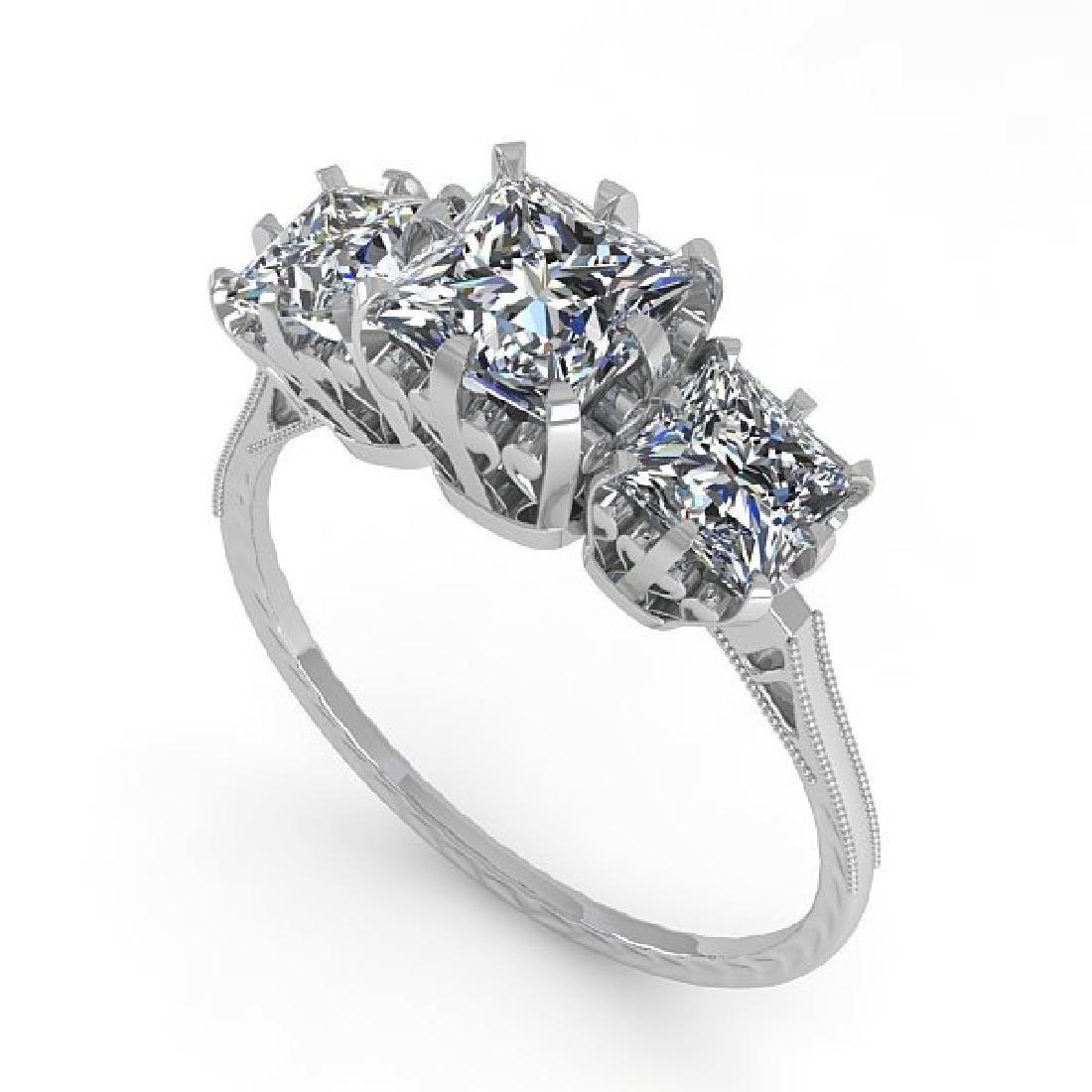 2 CTW Certified VS/SI Princess Diamond 14K White Gold - 2