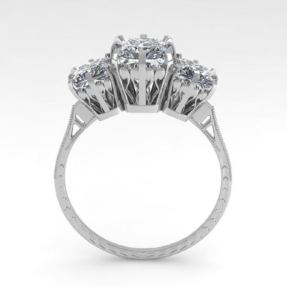 2 CTW Certified VS/SI Princess Diamond 14K White Gold - 3
