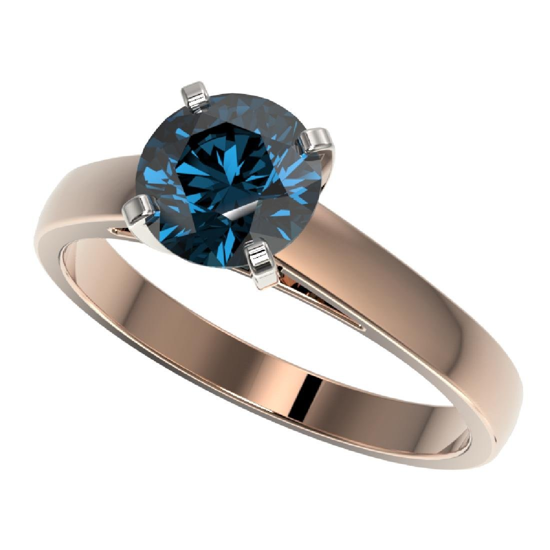 1.46 CTW Certified Intense Blue SI Diamond Solitaire