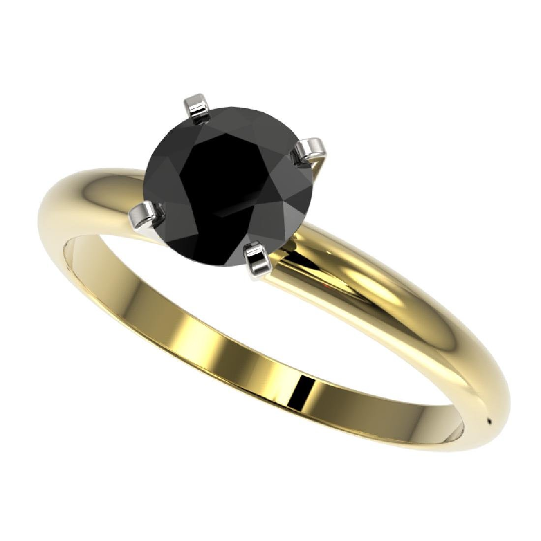 1.25 CTW Fancy Black VS Diamond Solitaire Engagement