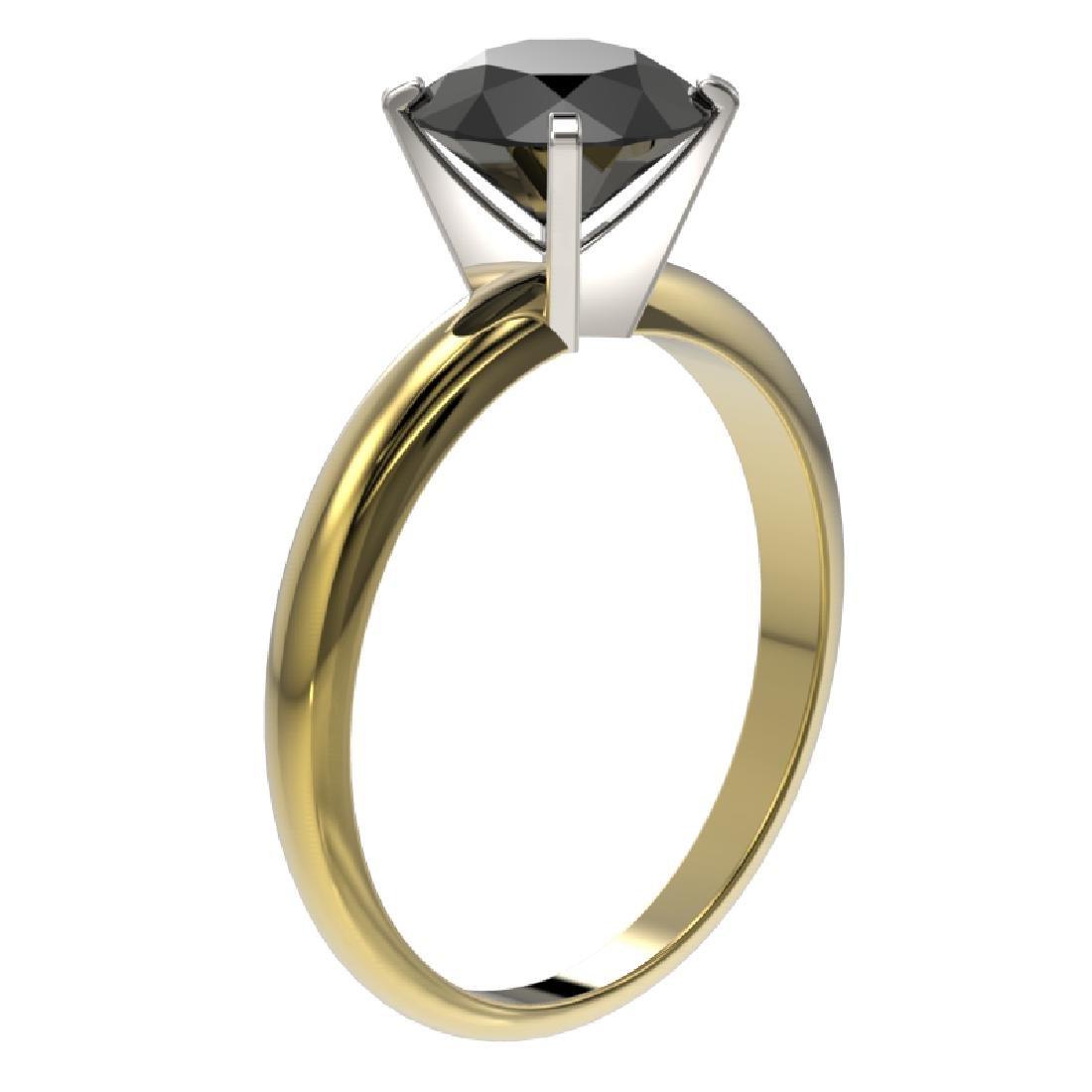 2.09 CTW Fancy Black VS Diamond Solitaire Engagement - 3
