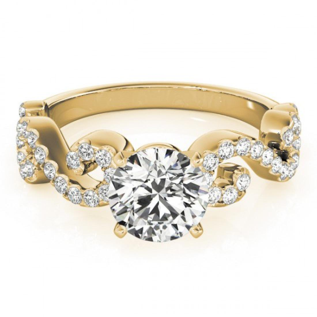 0.9 CTW Certified VS/SI Diamond Solitaire Ring 14K