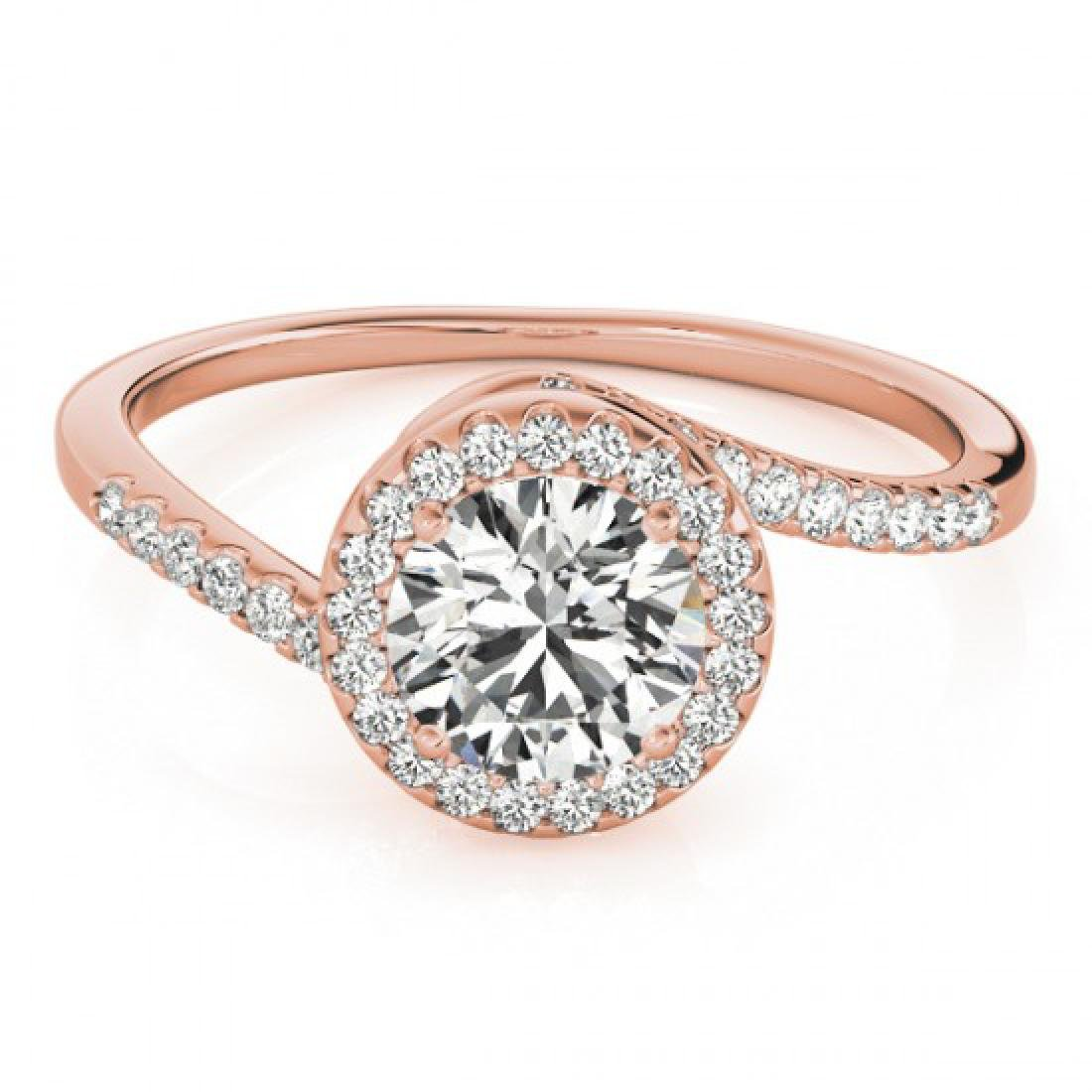0.75 CTW Certified VS/SI Diamond Bypass Solitaire Ring