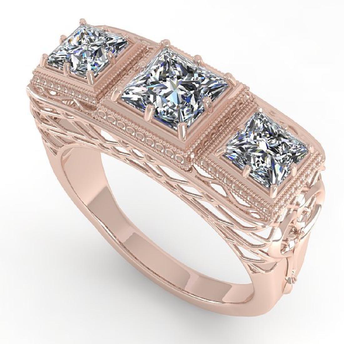2 CTW VS/SI Princess Diamond Ring 14K Rose Gold - 2