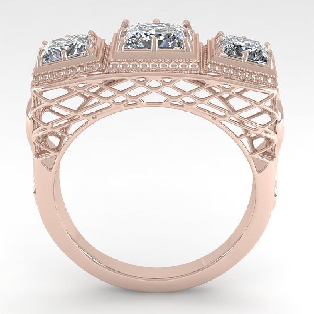 2 CTW VS/SI Princess Diamond Ring 14K Rose Gold - 3
