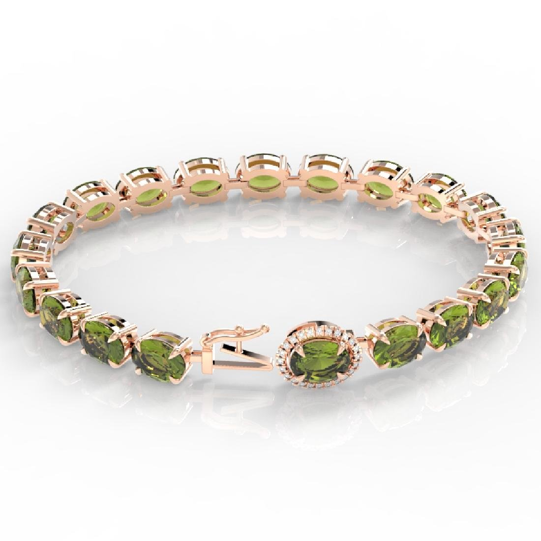 17.25 CTW Green Tourmaline & VS/SI Diamond Tennis Micro - 3
