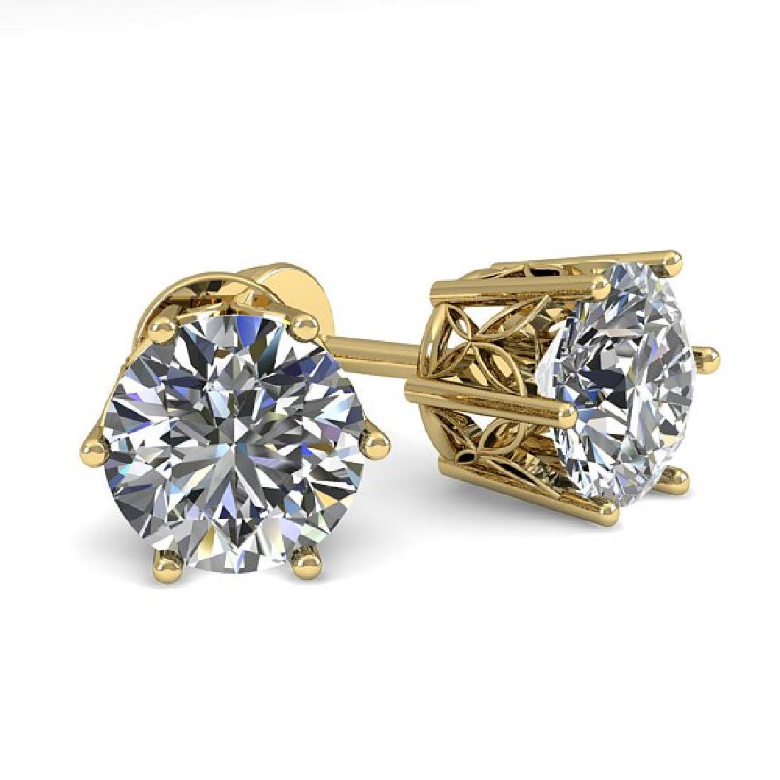 1.50 CTW VS/SI Diamond Stud Art Deco Earrings 14K