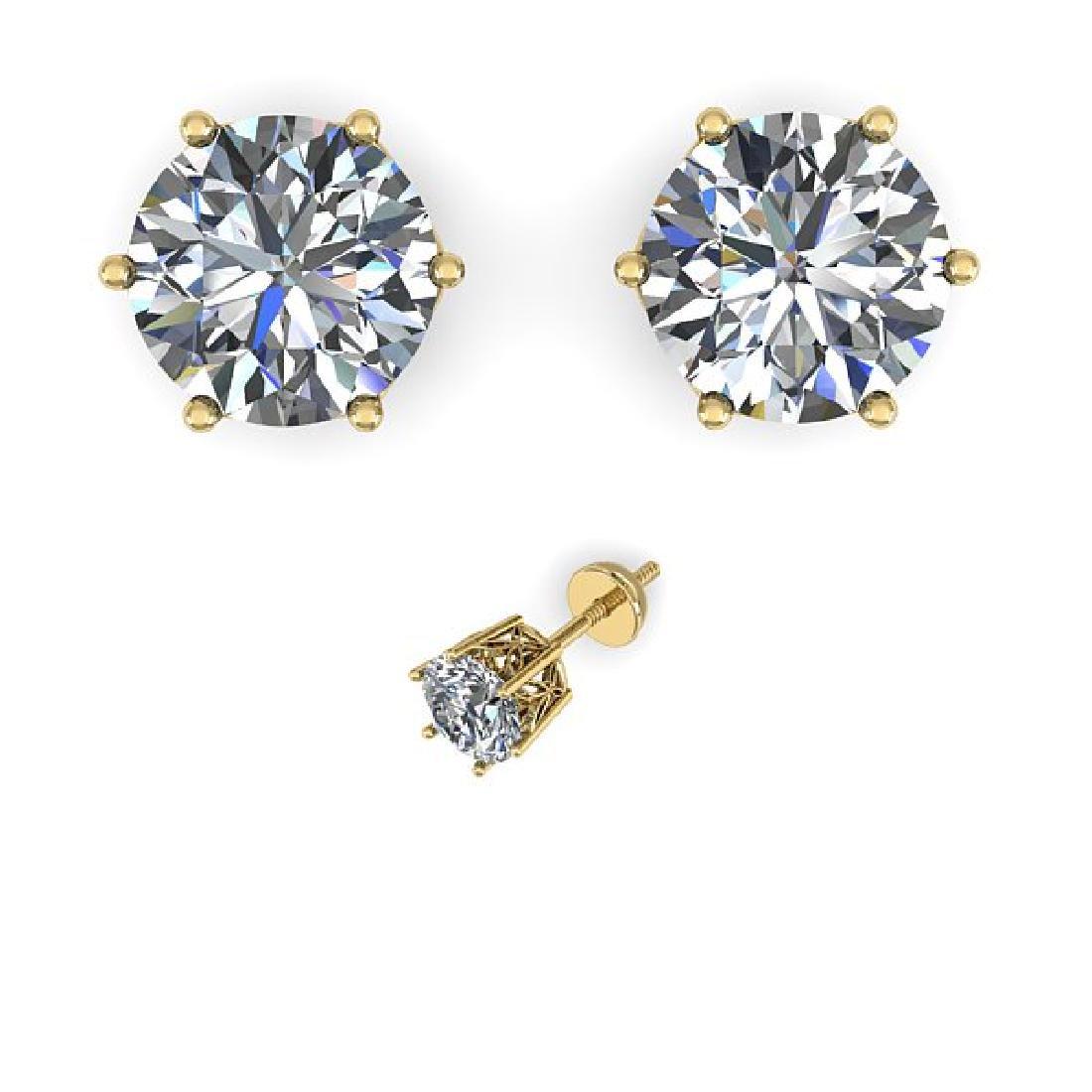 1.50 CTW VS/SI Diamond Stud Art Deco Earrings 14K - 2