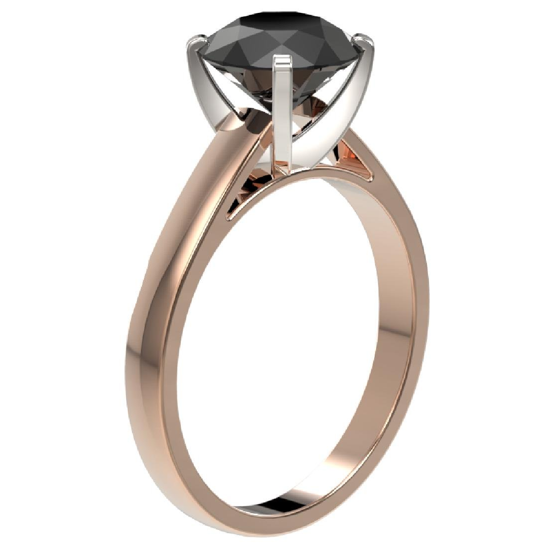 2.59 CTW Fancy Black VS Diamond Solitaire Engagement - 3