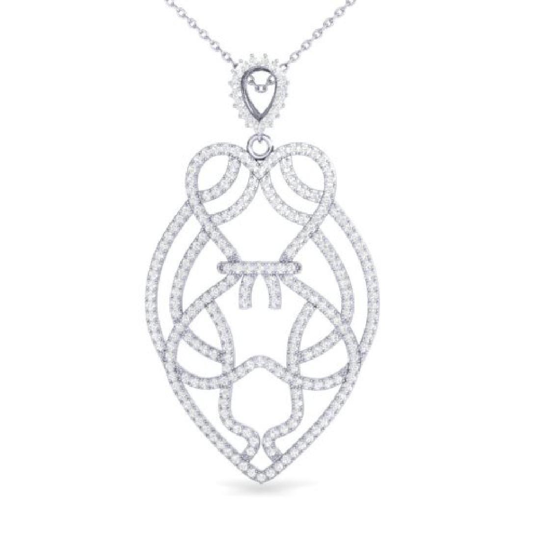 1.80 CTW Micro Pave VS/SI Diamond Heart Necklace