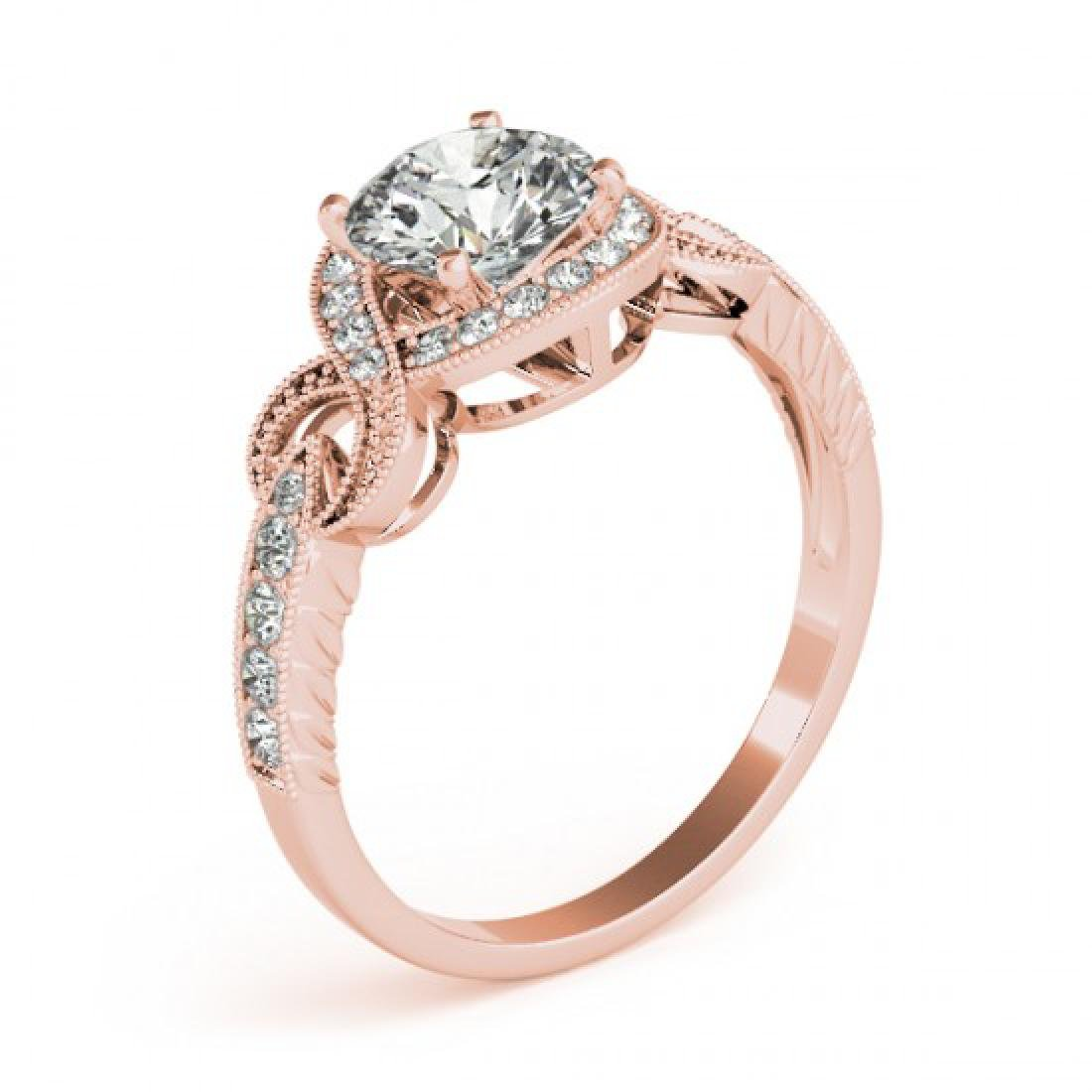1.05 CTW Certified VS/SI Diamond Solitaire Halo Ring - 3