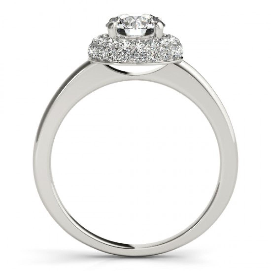 1.43 CTW Certified VS/SI Diamond Solitaire Halo Ring - 2