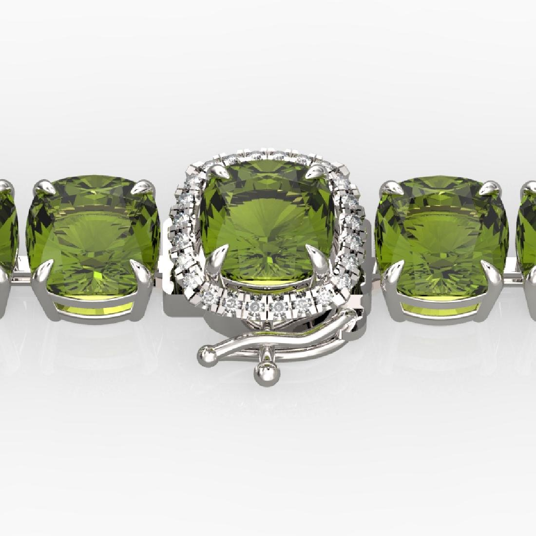 40 CTW Green Tourmaline & Micro VS/SI Diamond Halo