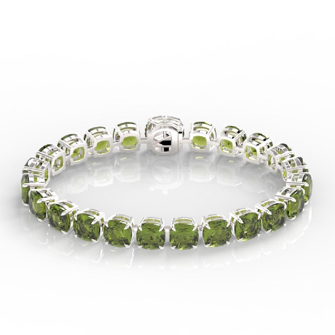 40 CTW Green Tourmaline & Micro VS/SI Diamond Halo - 2
