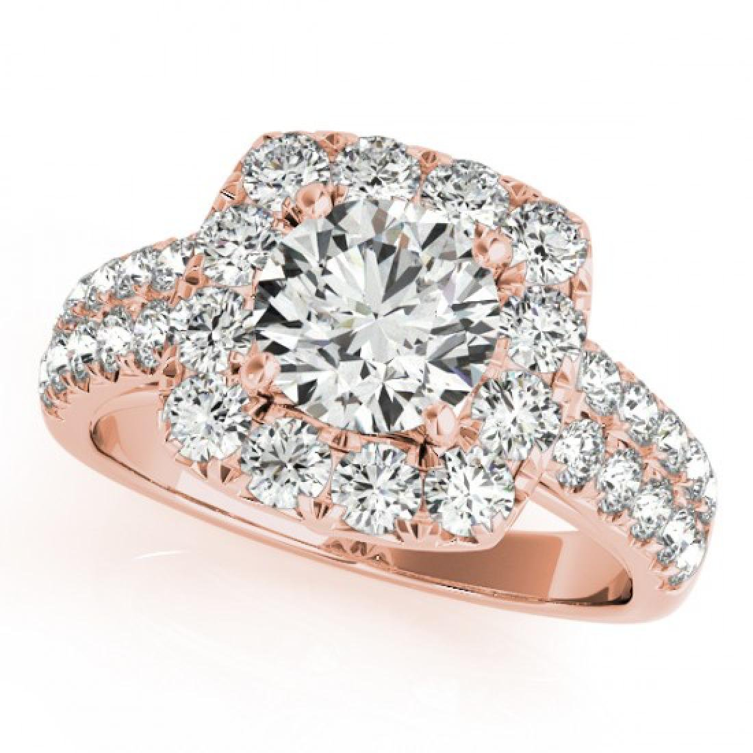 2.5 CTW Certified VS/SI Diamond Solitaire Halo Ring 14K