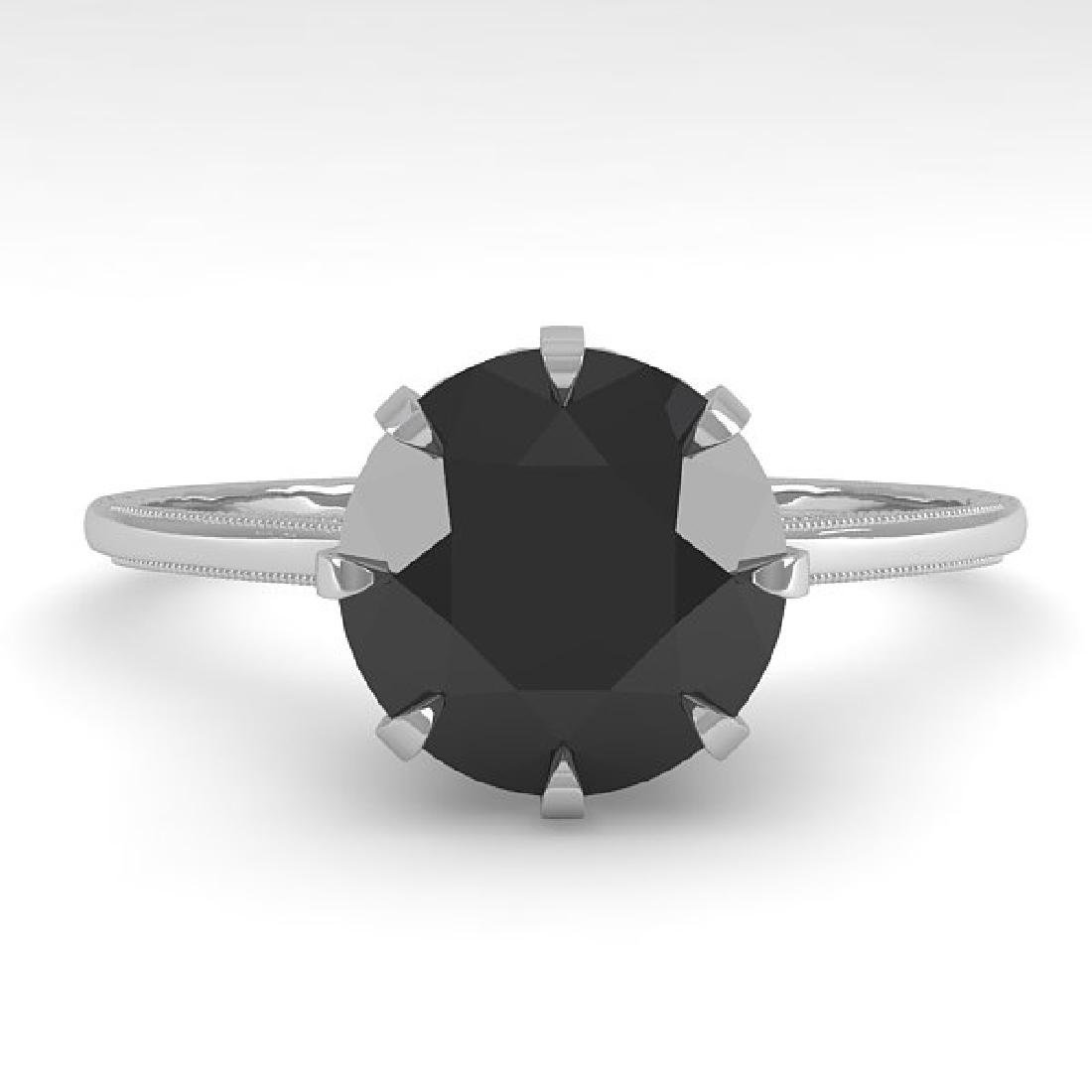 2.0 CTW Black Diamond Solitaire 14K White Gold