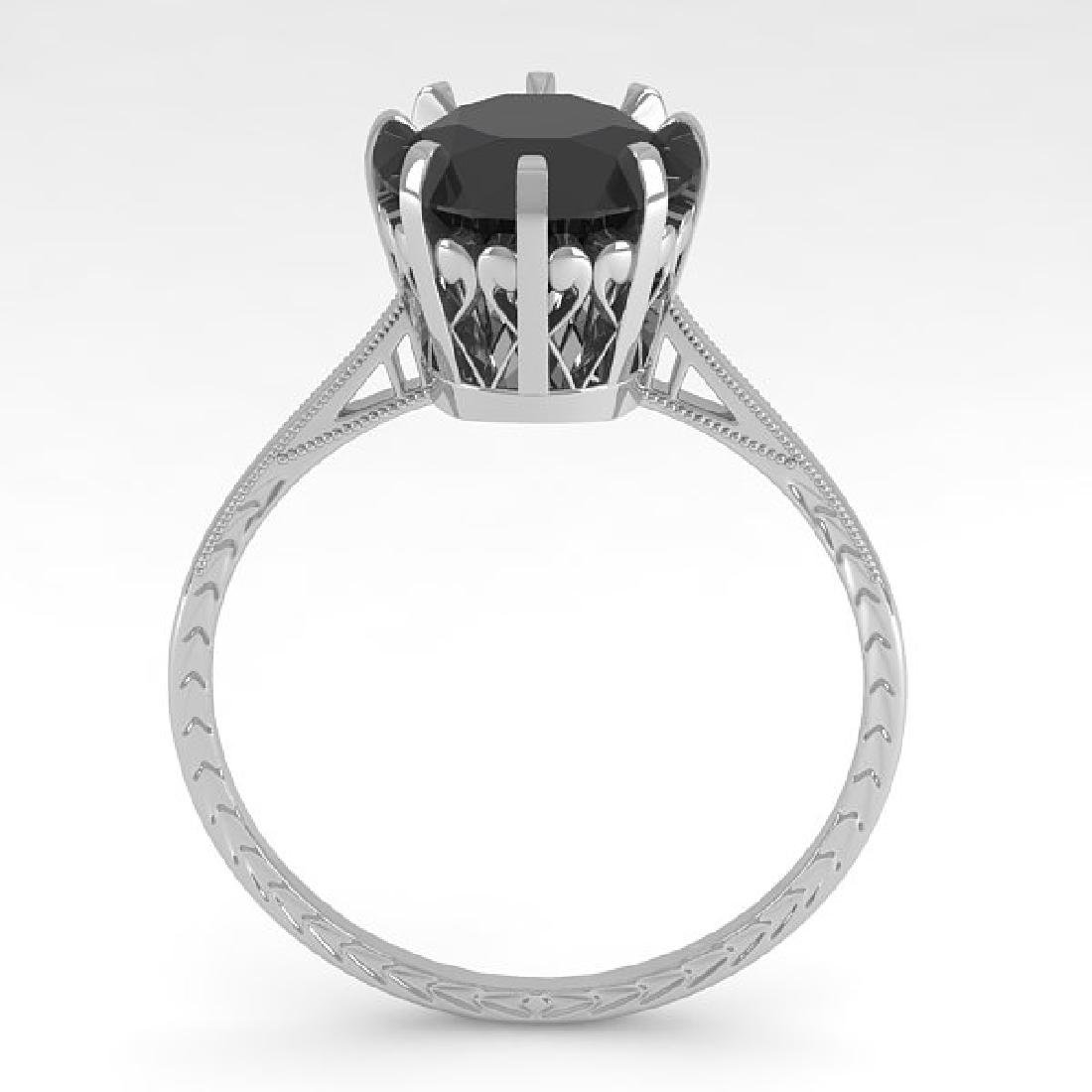 2.0 CTW Black Diamond Solitaire 14K White Gold - 2