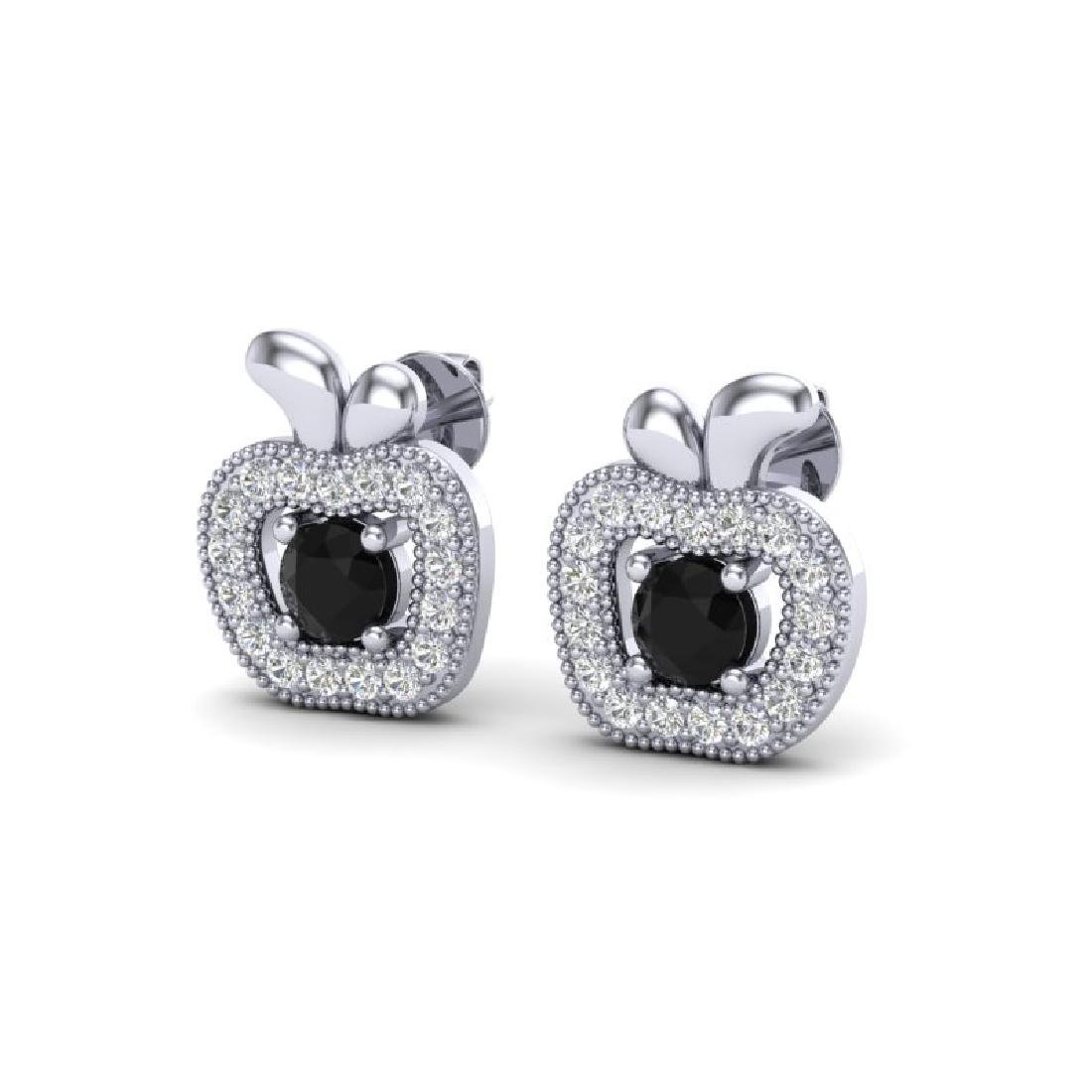 0.64 CTW VS/SI Diamond Micro Pave Halo Earrings 18K