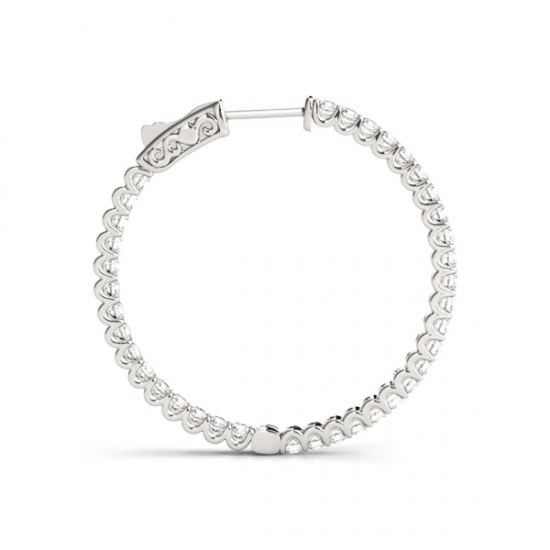 2.25 CTW Diamond VS/SI Certified 43 Mm Hoop Earrings - 3