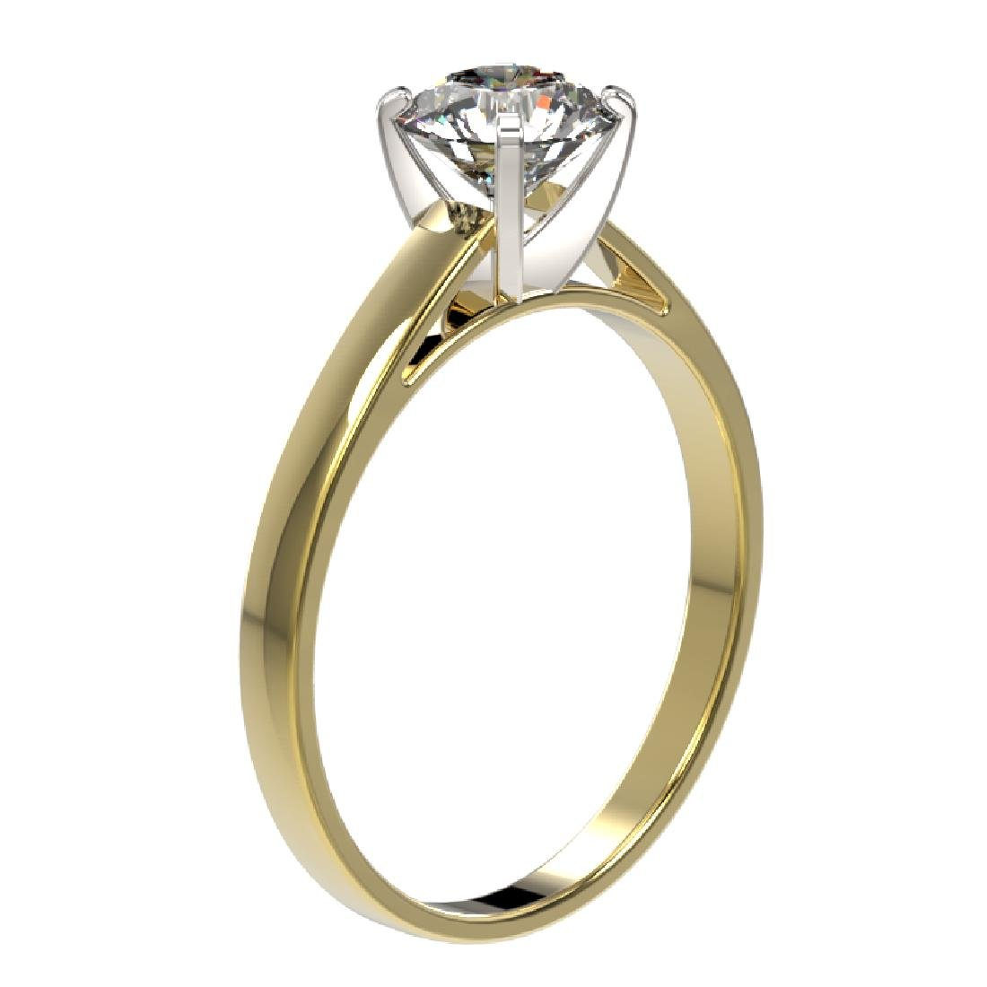 1.03 CTW Certified H-SI/I Quality Diamond Solitaire - 3