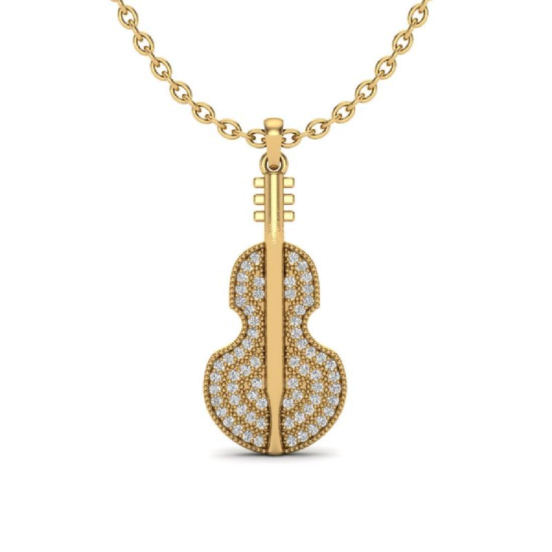 0.50 CTW VS/SI Diamond Micro Pave Necklace 18K Yellow