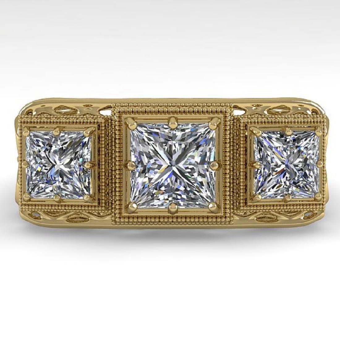 2 CTW VS/SI Princess Diamond Ring 14K Yellow Gold