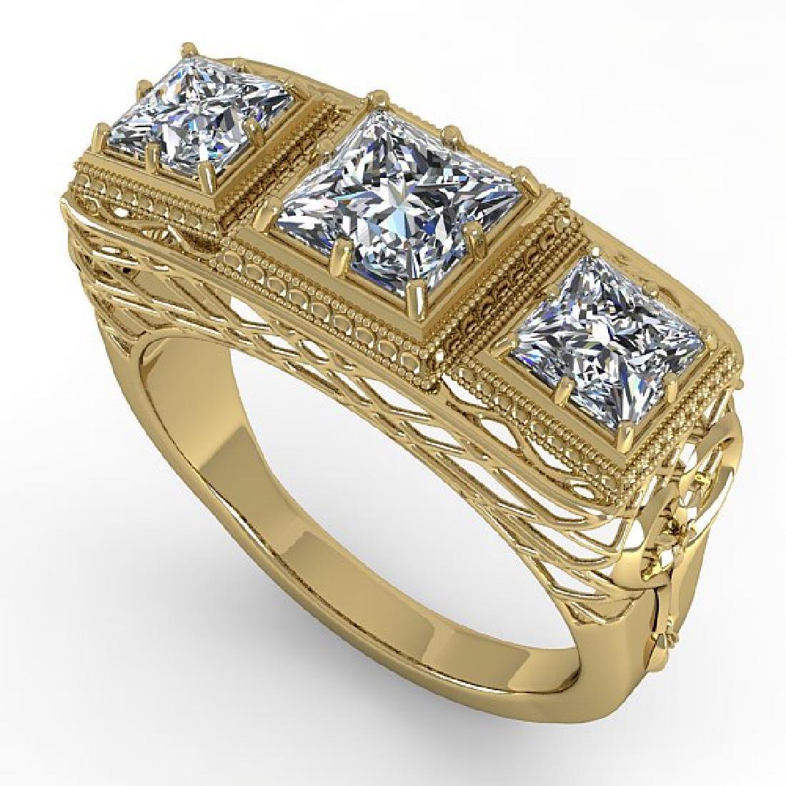 2 CTW VS/SI Princess Diamond Ring 14K Yellow Gold - 2