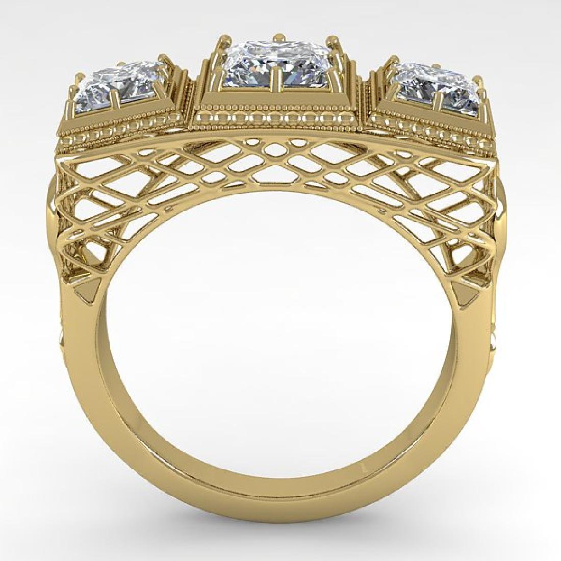 2 CTW VS/SI Princess Diamond Ring 14K Yellow Gold - 3