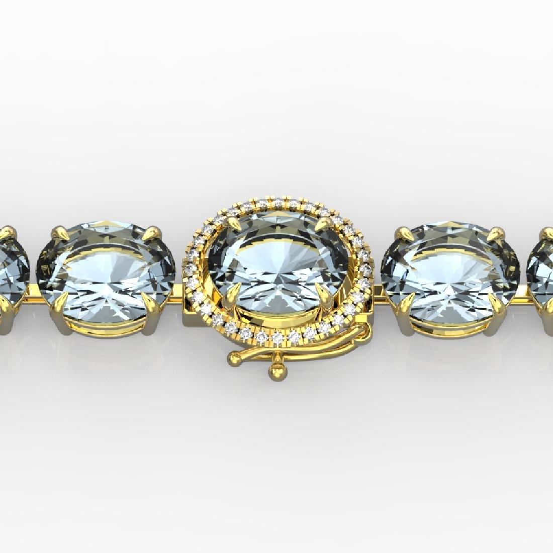 60 CTW Aquamarine & Micro VS/SI Diamond Halo Designer