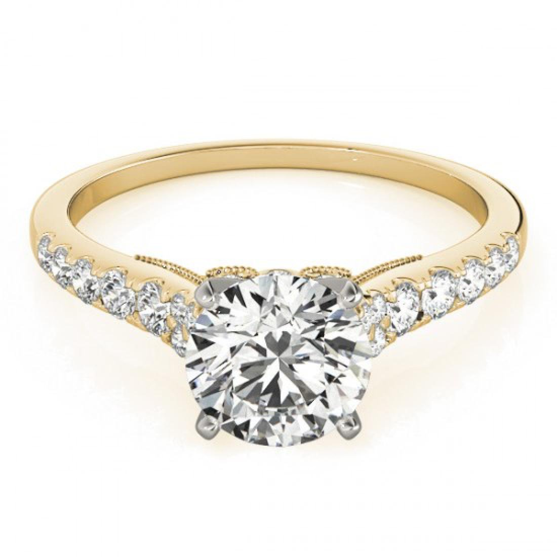 0.65 CTW Certified VS/SI Diamond Solitaire Ring 14K