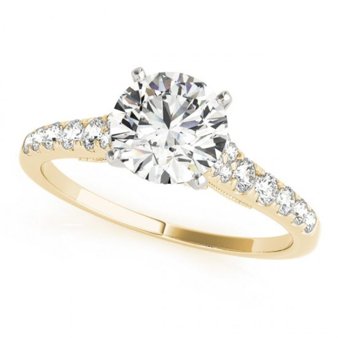 0.65 CTW Certified VS/SI Diamond Solitaire Ring 14K - 2