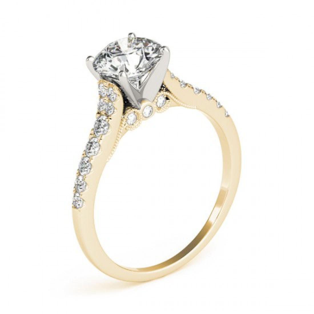 0.65 CTW Certified VS/SI Diamond Solitaire Ring 14K - 3