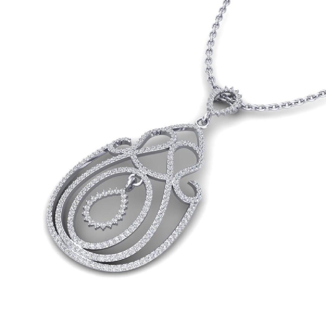 2 CTW Micro Pave Designer VS/SI Diamond Necklace 14K